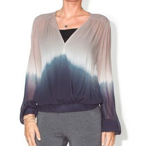 Young Fabulous & Broke Astrid Sheer Ombré Blouse